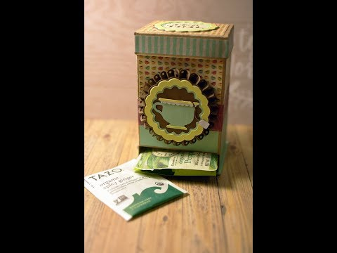 Tea Bag Box Dispenser using Cricut Design Space