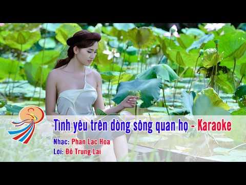 Tình yêu trên dòng sông quan họ - Karaoke nhạc sống - Song ca