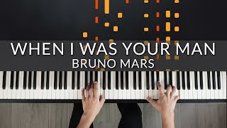Bruno Mars - When I Was Your Man | Tutorial of my Piano Cover видео