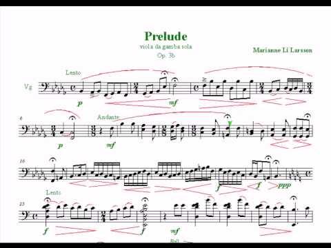 Prelude - viola da gamba sola - Marianne Li Larsson
