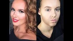 Halloween Look: vrouw naar man make-up transformatie