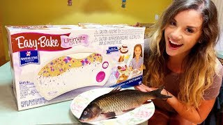 COOKING FISH WITH EASY BAKE OVEN TOY! *It actually worked!*
