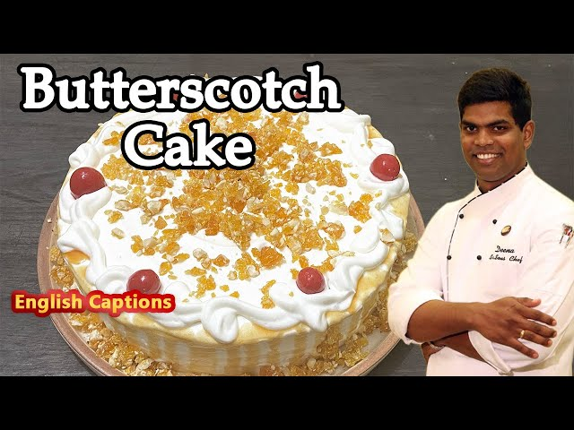 Butterscotch Cake | Without OVEN & EGG LESS | Birthday Day Cake | CDK #212 | Chef Deena's Kitchen