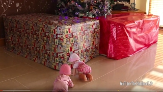 Baby Annabell and Giggles Wiggles Crawling Baby Doll Got Giant Presents! Baby Doll Pink & Black Cars