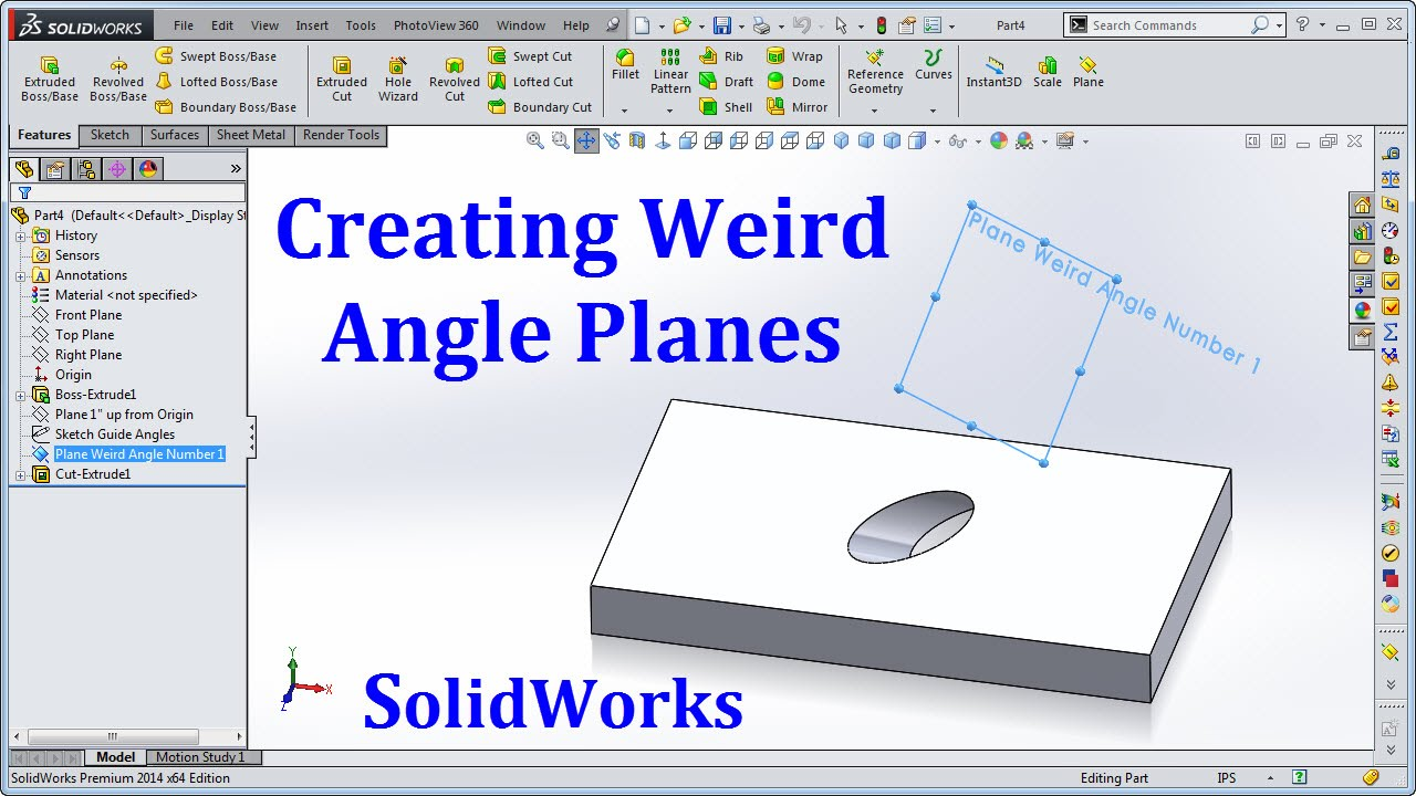 Solidworks Weird Angle Planes Youtube