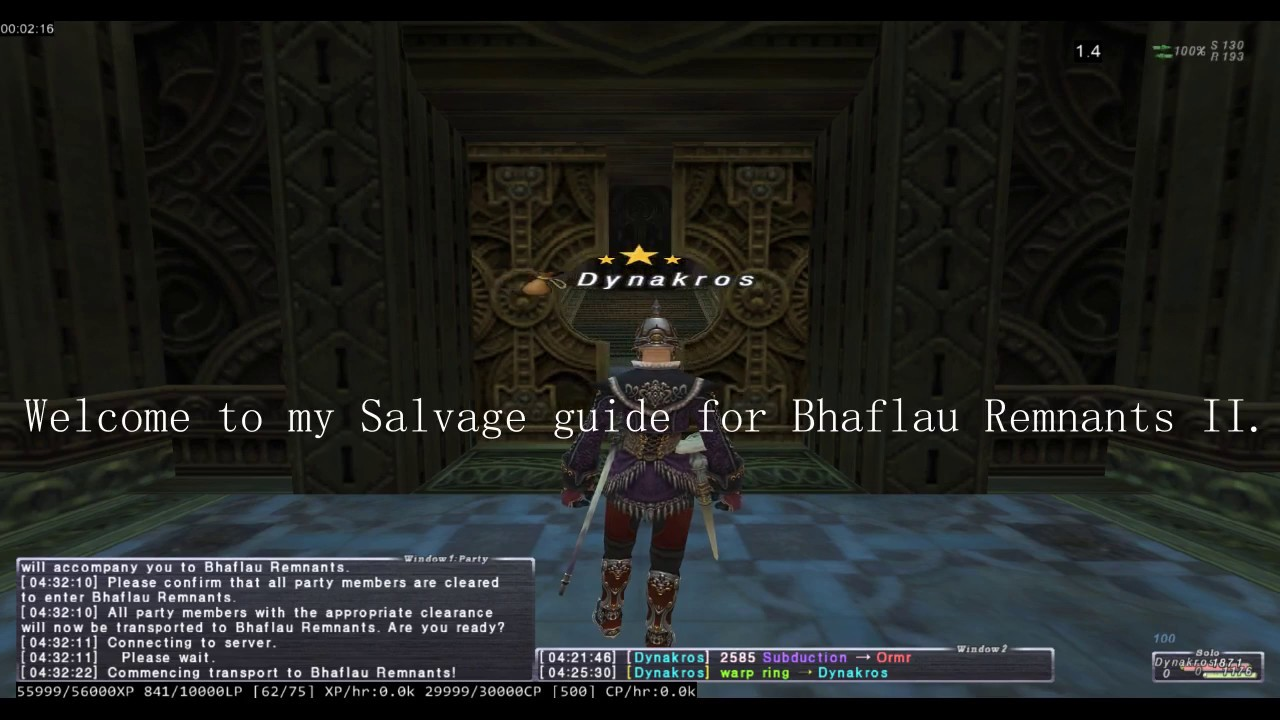FFXI - Beginner's Guide to BR II Salvage for BLU (less than 20 minutes!)