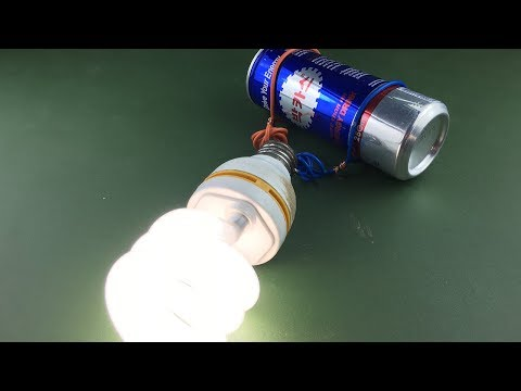 Free energy electricity generator light bulb 220 Volts - Experiment project at Home 2019
