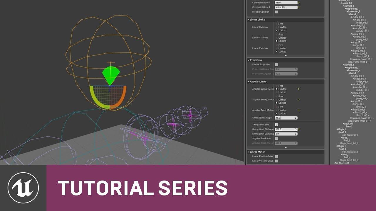 PhAT: Animation Blending & Spring Constraints| 08 | v4 2 Tutorial Series |  Unreal Engine