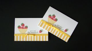 Fruit Basket Note Card using the Masking Technique