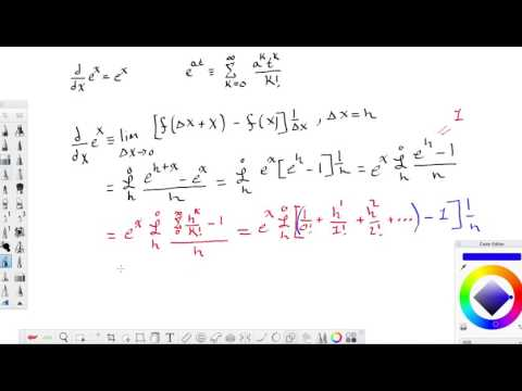 Proving derivative for e^x is equal to e^x using the limit definition of a derivative