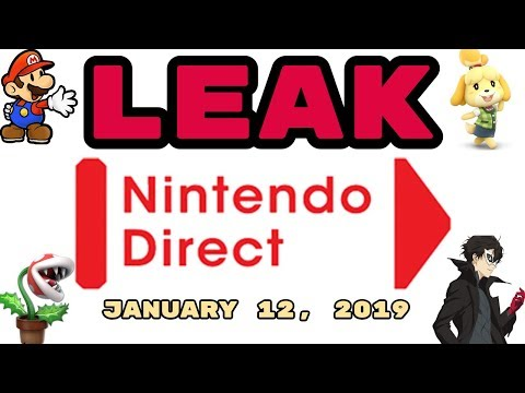 LEAKED Nintendo Direct January 12, 2019! PIRANHA PLANT + JOKER RELEASE DATE + NEW PAPER MARIO?!