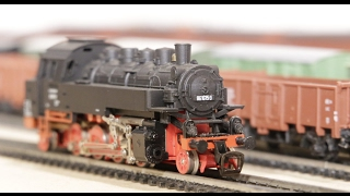 TT scale model trains 016: steamlocomotives BR86 BR56 and BR81 from BTTB