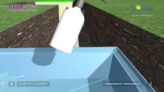 видео Строительство переливного бассейна