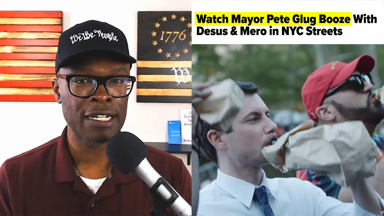 Anthony Brian Logan - Mayor Pete Drinks LIQUOR From A BROWN BAG For The Black Vote!