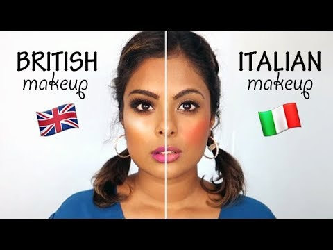 British Makeup Vs. Italian Makeup - YouTube