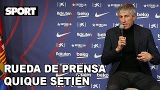 PRIMERA RUEDA DE PRENSA de QUIQUE SETIÉN como NUEVO ENTRENADOR DEL FC BARCELONA