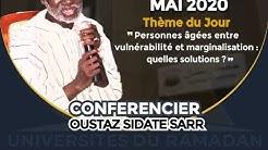 """Cours du Jour:  """"Personnes âgées entre vulnérabilité et marginalisation : quelles solutions?"""" Avec O"""