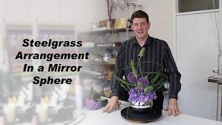 Bound Steelgrass Flower Arrangement - Featuring Teasels and Alliums -
