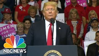 President Donald Trump Praises Ted Cruz, Calls Beto O'Rourke 'Stone Cold Phony' At Rally | NBC News