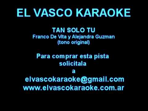TAN SOLO TÚ - Franco de Vita - LETRAS.COM