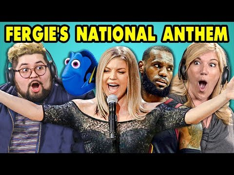 ADULTS REACT TO FERGIES NATIONAL ANTHEM Memes and Performance!