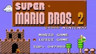 [FC] スーパーマリオブラザーズ2 ワープあり8-4クリア マリオ使用 | Super Mario Bros. 2