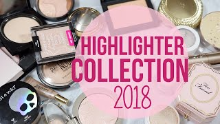 Highlighter Collection! // 2018 (Makeup Collection Series Pt. 4) | Lauren Mae Beauty