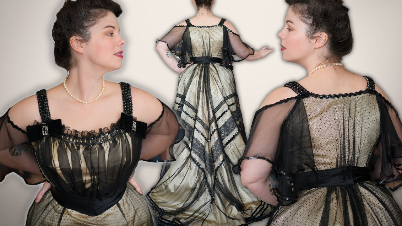 I made an Edwardian evening bodice using historical haute couture sewing techniques