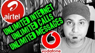 [2017] Unlimited Internet, Unlimited Calls/SMS (AIRTEL & VODAFONE)