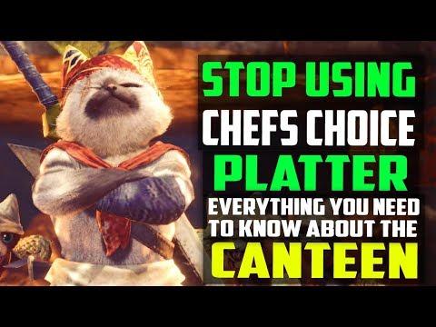 ✔️ STOP Using Chef's Choice Platter! BEST CUSTOM CANTEEN PLATTERS + FOOD SKILLS Monster Hunter World thumbnail