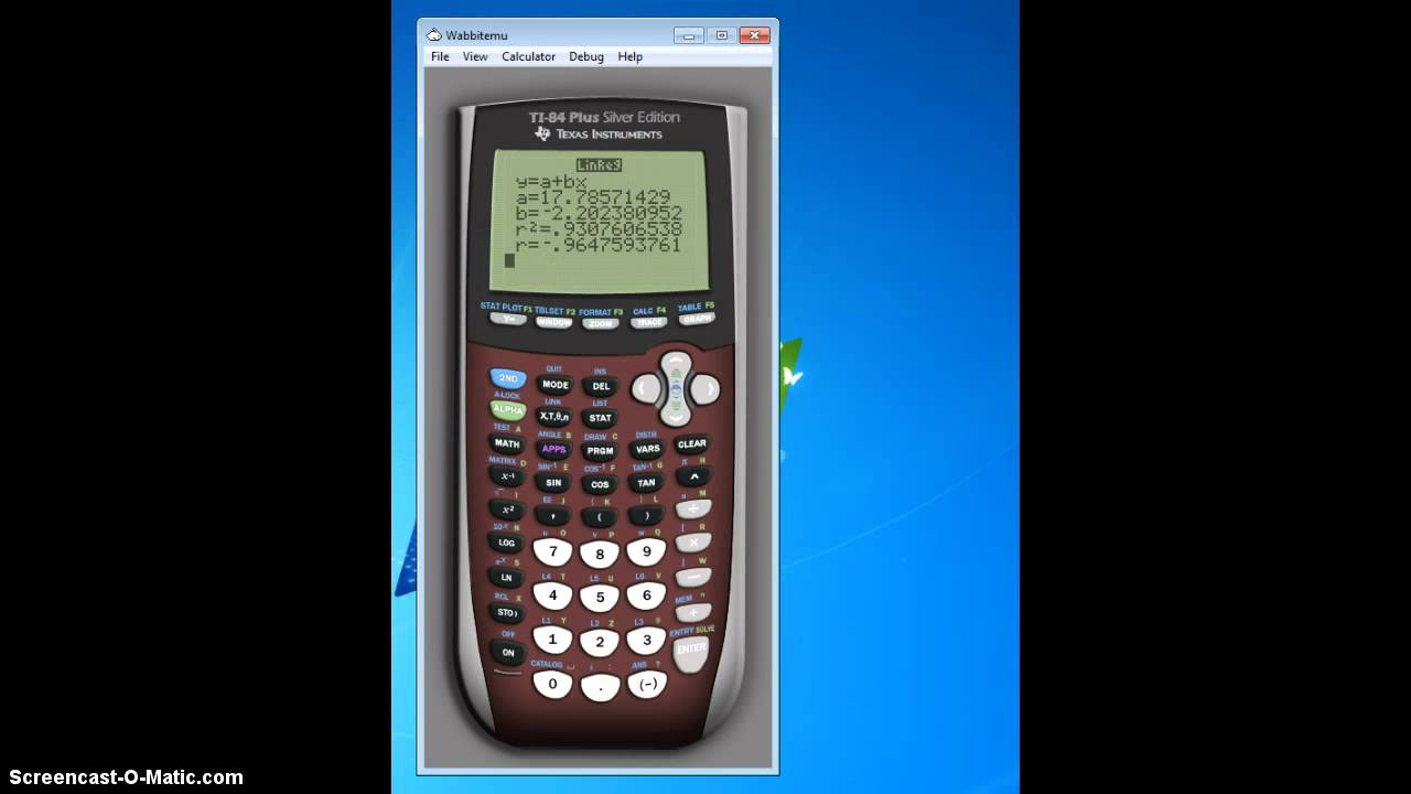 Using Calculator To Find R And Y Hat Youtube