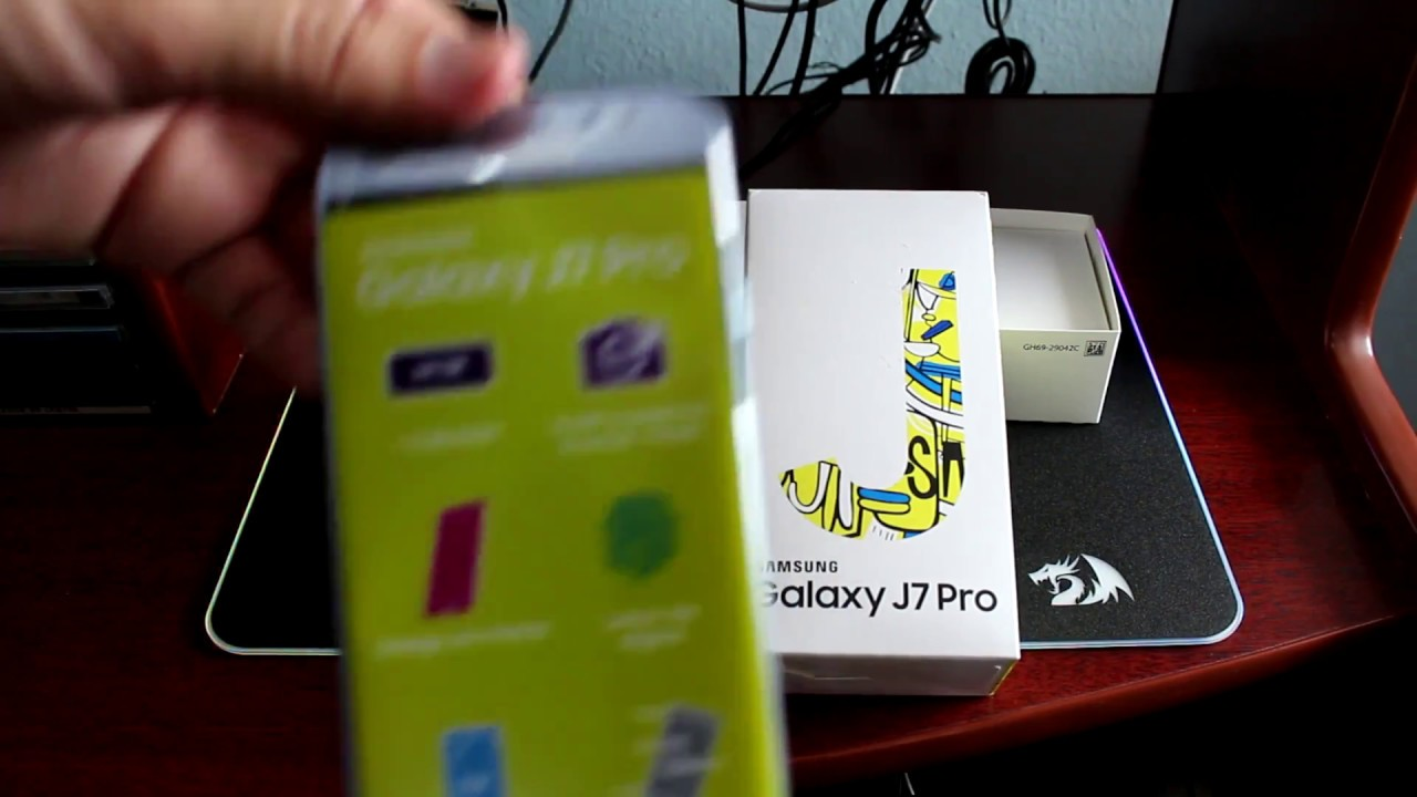 995eaf404d Unboxing Smartphone Samsung Galaxy J7 Pro Azul - YouTube