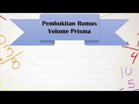 Pembuktian Rumus Volume Prisma