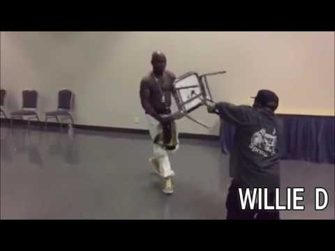 Smackdown!!! Geto Boys' Bushwick Bill & Naughty By Nature's Treach Wrestle Backstage... WWE Style!