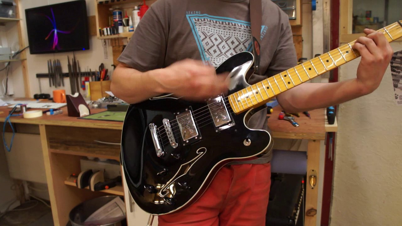 crazy custom wiring job for fender starcaster series parallel with rotary switches  [ 1280 x 720 Pixel ]