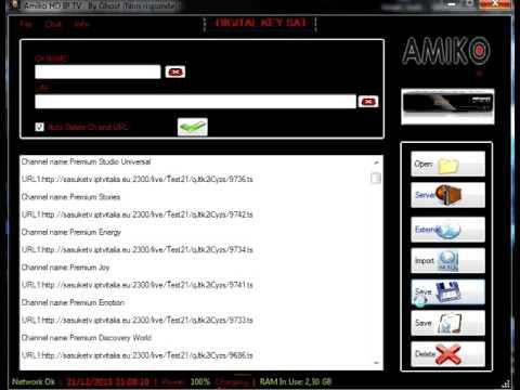 web tv list for amiko