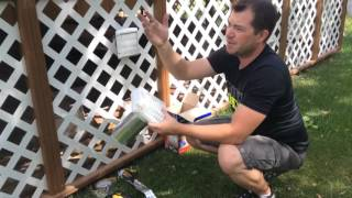 How to install a dryer vent hood with a pest guard