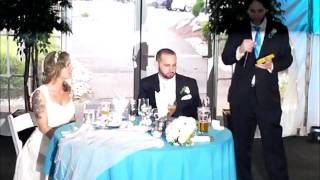 Best Man speech toast at Nick and Amandas wedding(My best man speech at my best friends wedding. Sorry the audio/visuals are a little hard to make out. I knew the wedding would be fun, so I had some fun with ..., 2016-08-21T03:16:43.000Z)