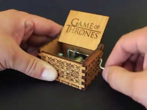 Game of Thrones - Engraved Wooden Music box by buzz79