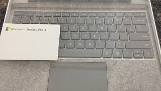 Surface Pro 4 Signature Type Keyboard unboxing and first impressions