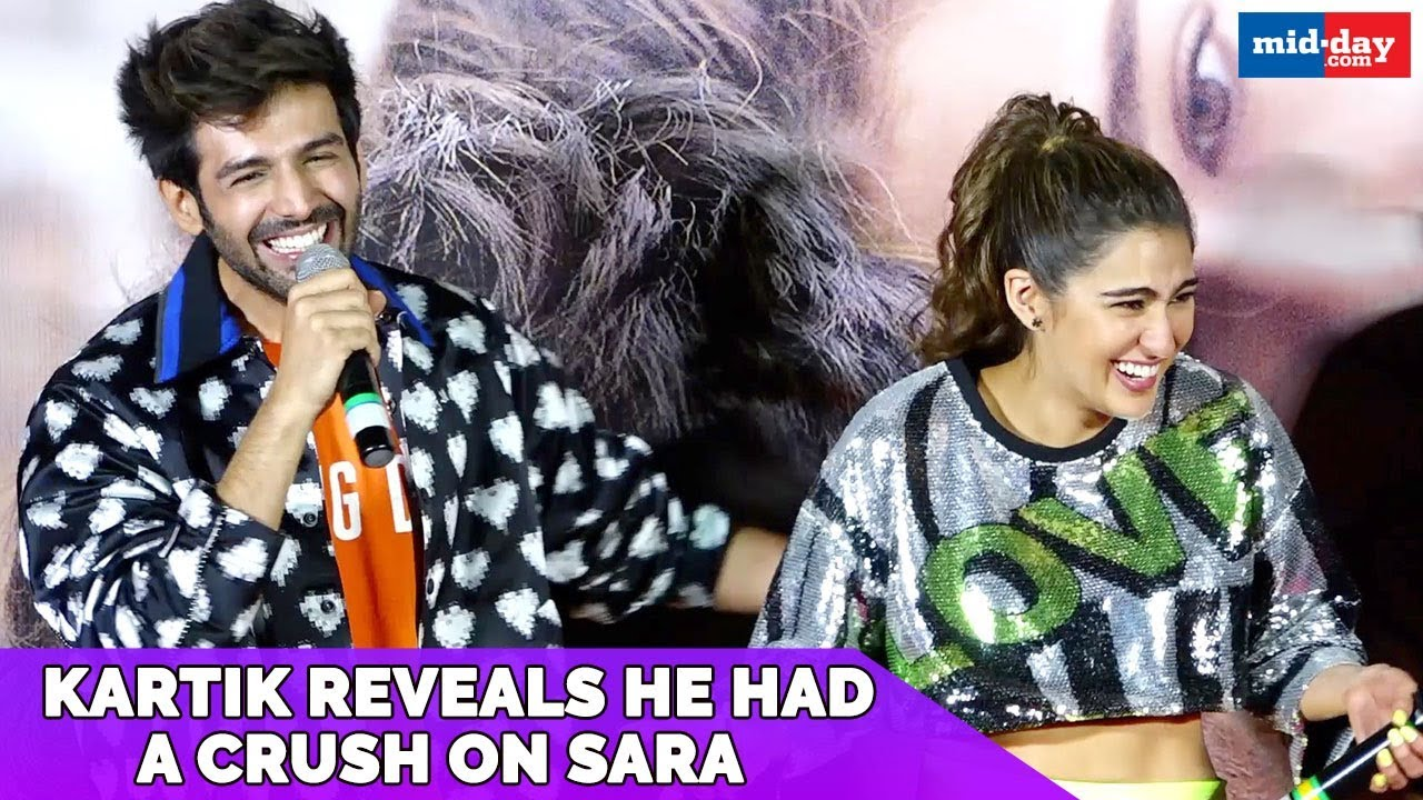 Kartik Aaryan reveals that he had a crush on Sara Ali Khan