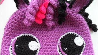 Детская двойная шапочка- пони (crochet baby hats) (Шапка #18)
