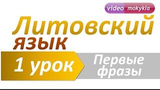 Литовский язык | 1 урок | Первые фразы. Ежедневные предложения на литовском языке
