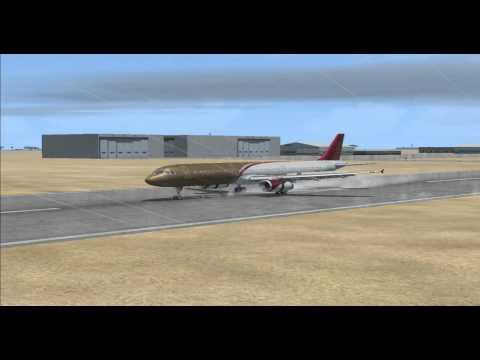 [FSX] GREY & RAINY - A320 Manual Landing @ Doha Int'l (OTBD)