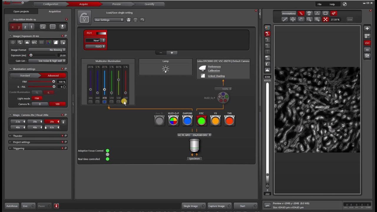 Las X Navigator Quick Start Tile Scan Youtube