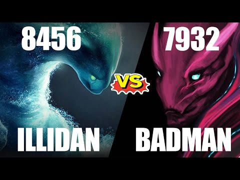 Dota 2 Illidan 8456 vs BADMAN 7932 MMR - 7k Average