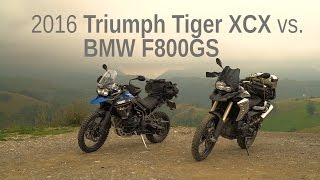 2016 Triumph Tiger XCX vs. BMW F800GS | Comparison Test Ride Review
