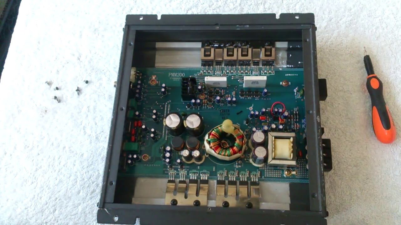 Alpine Mrpm200 Amplifier Old School (whats's Inside)
