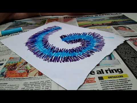 DIY watercolor tie dye