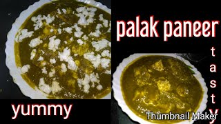Palak paneer | famous Indian recipes | delicious recipes | yummy recipe